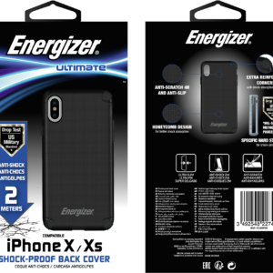 Energizer Shockproof Back Cover 2.0m iPhone X/XS 5.8 Black GR