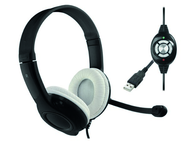 Stereo Headphone Media-Tech MT3573 EPSILION USB with Microphone and Control Buttons Black
