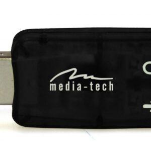 Audio Adaptor Media-Tech MT5101 2Χ3.5mm Female to USB Male Black