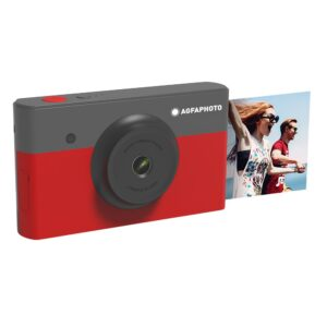 "Camera Agfa Mini Shot 2X3 Red 10MP Bluetooth LCD 1.77""  και Τεχνολογία 4PASS"