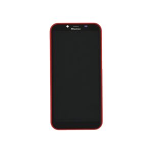 Original LCD & Digitizer Hisense F17 Red with Frame