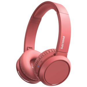 Philips Stereo Headphone TAUH202BK/00 Red with Microphone for Mobile Phones