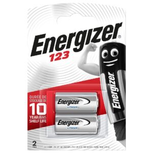 Battery Lithium Energizer CR123 3V Pcs. 2