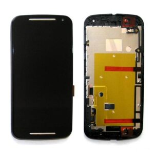 LCD with Touch Screen & Front Cover Motorola XT1064 Moto G 2014 2nd gen Black (OEM)