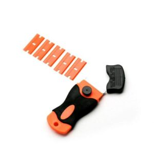 Tool for Opening Mobile Phones Black-Orange with 5pcs Spare Blades