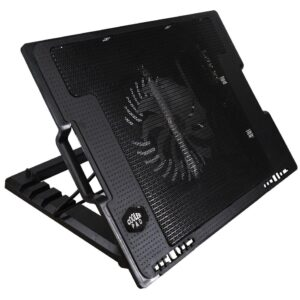 """Laptop Cooler Mobilis CP140 with Adjustable Angle Stand Black for Netbook up to 17"""""""