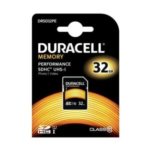 SDHC C10 UHS-I U1 Performance Memory Card Duracell 80MB/s 32GB