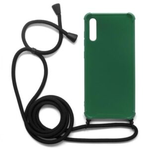 TPU Crossbody inos Samsung A705F Galaxy A70 Shock Proof Green with Black Strap