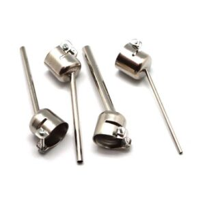 Set Bent Curved Angle Hot Air Gun Nozzle with Long Nozzle for Use Under Microscope (4 pcs)