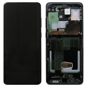 LCD with Touch Screen & Front Cover Samsung G988F Galaxy S20 Ultra Cosmic Black (Original)