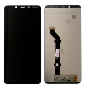LCD with Touch Screen Nokia 3.1 Plus Black (OEM)