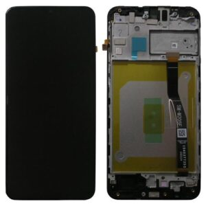 LCD with Touch Screen & Front Cover Samsung M205F Galaxy M20 Black (Original)