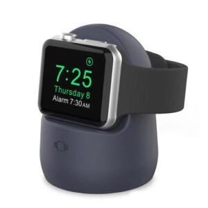 Desktop Holder AhaStyle PT63 for Apple iWatch Charging Silicon Navy Blue
