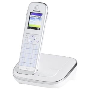Refurbished (Exhibition) Dect/Gap Panasonic KX-TGJ310GRW White with Hands Free Connectivity