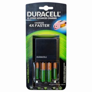 Battery Charger Duracell Hi-Speed Advanced with AA/AAA with 2 ΑΑ 1300mAh and 2 ΑΑΑ 750mAh Included