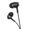Hands Free Hoco M76 Maya Earphones Stereo 3.5mm with Back CLip on the Micrphone and Operation Control Button 1.2m Black