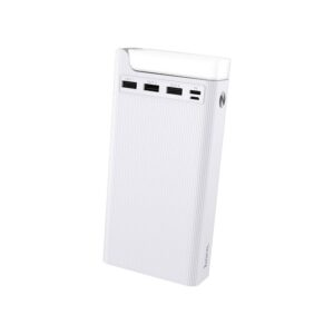 Power Bank Hoco J62 Jove 30000mAh with 3 USB Ports 2A and Table Lamp White