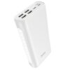Power Bank Hoco J60 Snowflake 30000mAh with 4 USB Ports 2A and Table Lamp White