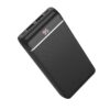Power Bank Hoco J59A Famous 20000mAh with 2 USB Ports 2A and Table Lamp Black