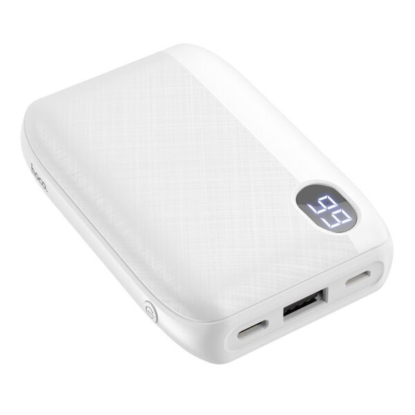 Power Bank Hoco J53 Exceptional 10000mAh USB 2A and LED Digital Indicator with Retardant Material White