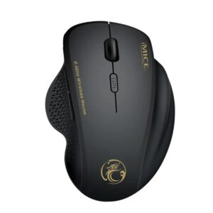 Wireless Mouse iMICE G6 1600dpi 2.4GHz with 6 Buttons and High Precision Optical Engine Black