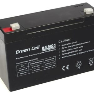 Battery for UPS Green Cell AGM01 AGM (6V 12Ah) 1.84kg 151mm x50mm x 94mm