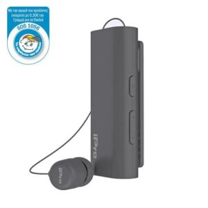 ΑutoAnswer Retractable Bluetooth Headset iPro RH519 with Vibration Grey