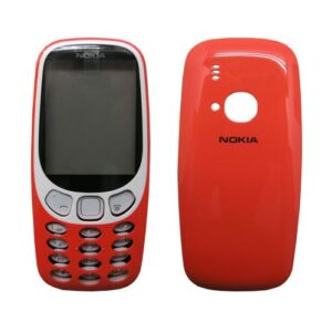 Front and Back Cover with Keypad Nokia 3310 (2017) Red (OEM)