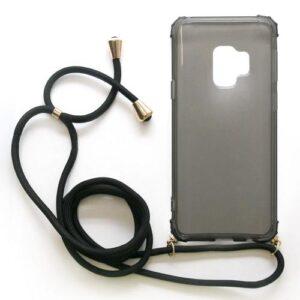 TPU Crossbody inos Samsung G960F Galaxy S9 Shock Proof Smoke with Black Strap