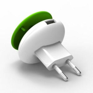 Travel Charger Osungo Mushroom GreenZERO with Single USB5V/1.0A White-Green