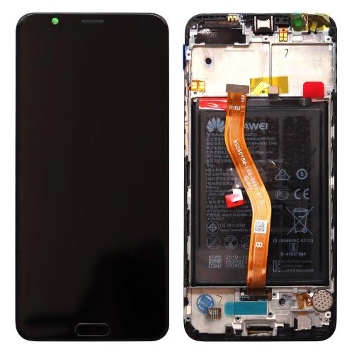 LCD with Middle Plate and Battery Honor View 10 Black (Original)