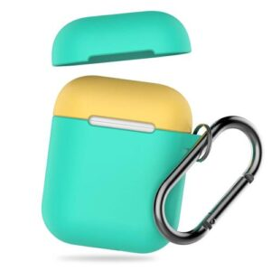 Silicon Case AhaStyle PT46 Apple AirPods Tone with Hook Mint Green-Yellow
