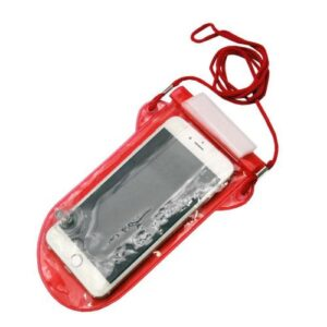 Universal Water & Dust Resistant Case till 5.5'' Τransparent Red