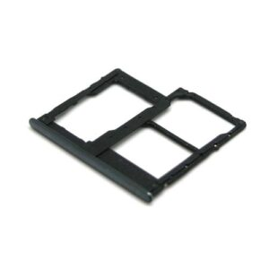 Sim & SD Card Holder Samsung A405F Galaxy A40 Black (Original)