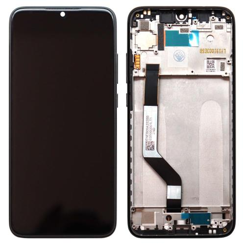 LCD with Middle Plate Xiaomi Redmi Note 7 Black (Original)