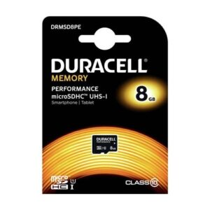 Micro SDHC C10 UHS-I U1 Performance Memory Card Duracell 95MB/s 8Gb