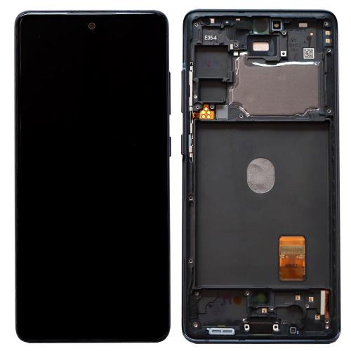 LCD with Touch Screen & Front Cover Samsung G780F Galaxy S20 FE Blue (Original)