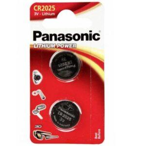 Lithium Button Cells Panasonic CR2025 (2 pcs)