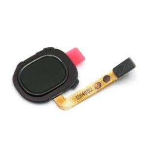 Home Button Flex Cable with External Button & Fingerprint Sensor Samsung A202F Galaxy A20e Black (Original)