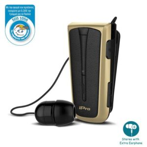 Stereo Bluetooth Headset iPro RH219s Retractable with Vibration Black-Gold
