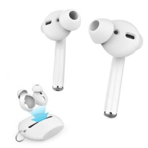 Silicon Cover with Case AhaStyle PT66 Apple Earpods & Airpods Enhanced Sound White (3 pairs)