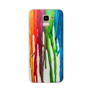 TPU inos Samsung J600F Galaxy J6 (2018) Art Theme Vertical Watercolor