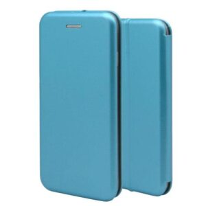 Flip Book Case inos Samsung J600F Galaxy J6 (2018) Curved M-Folio Light BLue