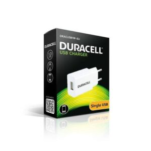 Travel Charger Duracell with Single USB 1.0A White