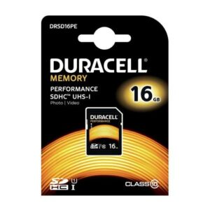 SDHC C10 UHS-I U1 Performance Memory Card Duracell 80MB/s 16GB