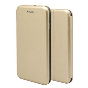 Flip Book Case inos Honor 8A Curved M-Folio Gold