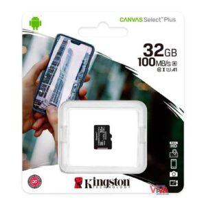 Micro SDHC C10 UHS-I U1 Memory Card Kingston Canvas Select Plus 100MB/s 32Gb