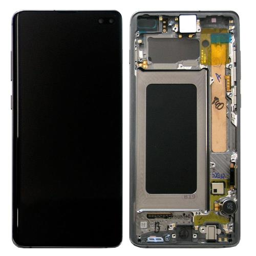 LCD with Touch Screen & Front Cover Samsung G975F Galaxy S10 Plus Black (Original)
