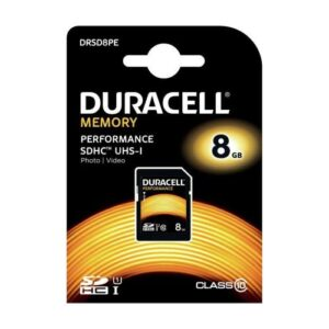 SDHC C10 UHS-I U1 Performance Memory Card Duracell 80MB/s 8GB