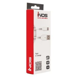 USB 2.0 Cable inos USB A to Micro USB 1m White